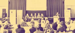 Richard Freeman chairing the Brighton Big Debate