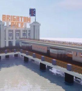 A Minecraft version of Brighton Pier