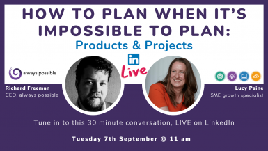 LinkedIn Live Lucy Paine - products and projects
